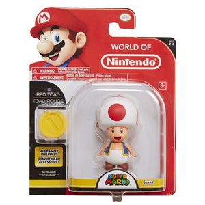 World of Nintendo Red Toad Action Figure 4""