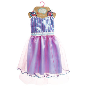 Whimsy & Wonder Froze Deluxe Dress Play, Blue/Pink