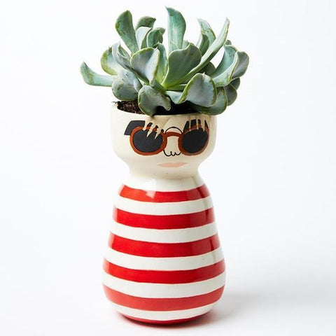 Andy Beach Bum Face Vase