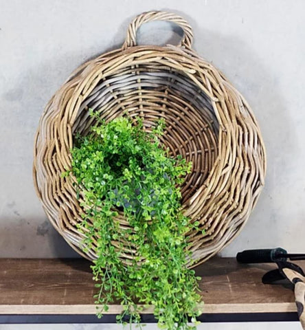 Rattan Hanging Wall Planter