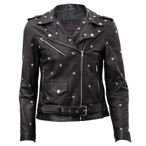 Studded Star Leather Jacket