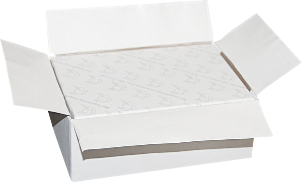 "White Universal Sealing Flap Mailing Box - R3 - 4 5/8"" x 3 1/8"" x 1 3/4"""