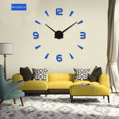 Superieur 2018 New High Quality 3D Wall Stickers Creative Fashion Living Room Clocks  Large Wall Clock DIY