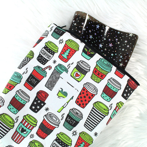 Coffee Christmas Planner Pouch