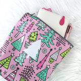 Pink Christmas Planner Pouch
