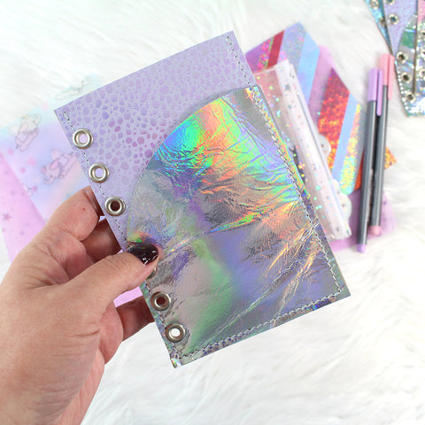 Crinkle HOLO Leather Planner Insert - RTS