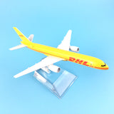 Yellow DHL Express Delivery Aircraft Boeing 757-200 B757 Diecast Airplanes Model Toys