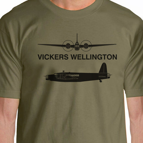 100% Cotton O-Neck Top Tees Casual Vickers Wellington Aircraft Short Sleeve Shirts