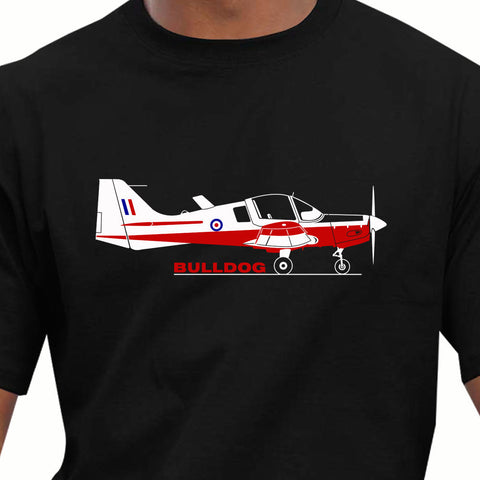 100% Cotton Summer Mens T Shirt Aeroclassic Scottish Aviation Bulldog Aircraft