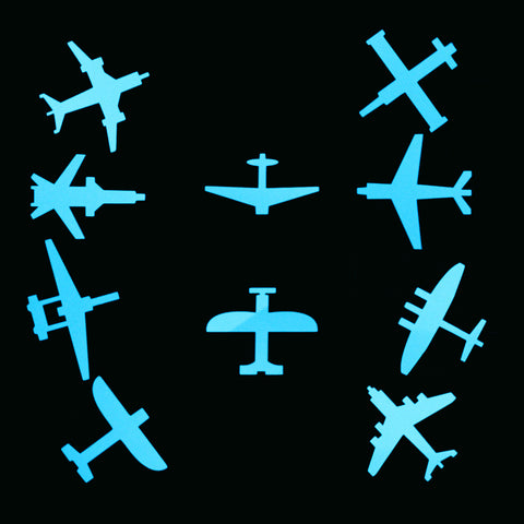 10pcs Airplanes Luminous Wall Sticker Switch Decoration Sticker Glow in the Dark Aircraft