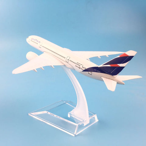 16cm A380 Boeing 777 LATAM Alloy Metal Model Airplane Model W Stand Kids Toys