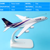 16cm Alloy Metal Air Thai A380 Airlines Aircraft Airbus 380 Airways Airplane Model Plane Model