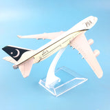 16cm Metal Alloy Plane Model Air Pakistan PIA B747 Airways Aircraft Boeing 747 400 Airlines