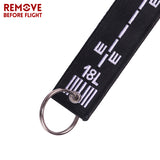 1PCS Key Ring Remove Before Flight Embroidery Keychain Aviation Gifts Key Chain Motorcycle