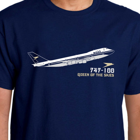 Aeroclassic Boeing 747-100 BOAC Livery Airliner T-Shirt Summer Style Plane