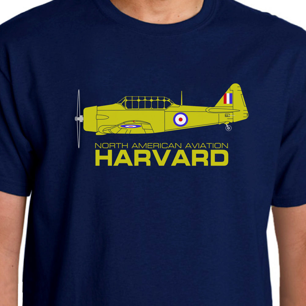 Newest Fashion Men 100% Cotton Cool Tees Aeroclassic North American Aviation Harvard