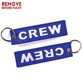 3PCS Mix Color Crew Key Chain OEM Embroidery Key Ring Holder Luggage Tag Aviation
