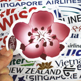 52 Pcs Aviation Logo Stickers for Skateboard Bicycle Motorcycle Car Styling Laptop Home Decor