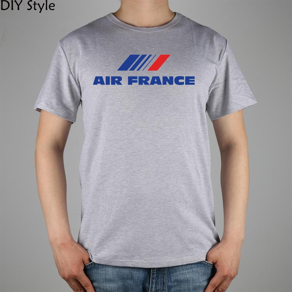 AIRBUS air France Popular T-shirt Top Lycra Cotton Men T shirt