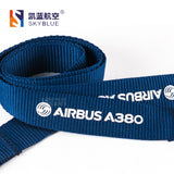 Airbus A380 Lanyard with Metal Buckle Blue Ribbon for Pilot Aviation Lover Flight Crew