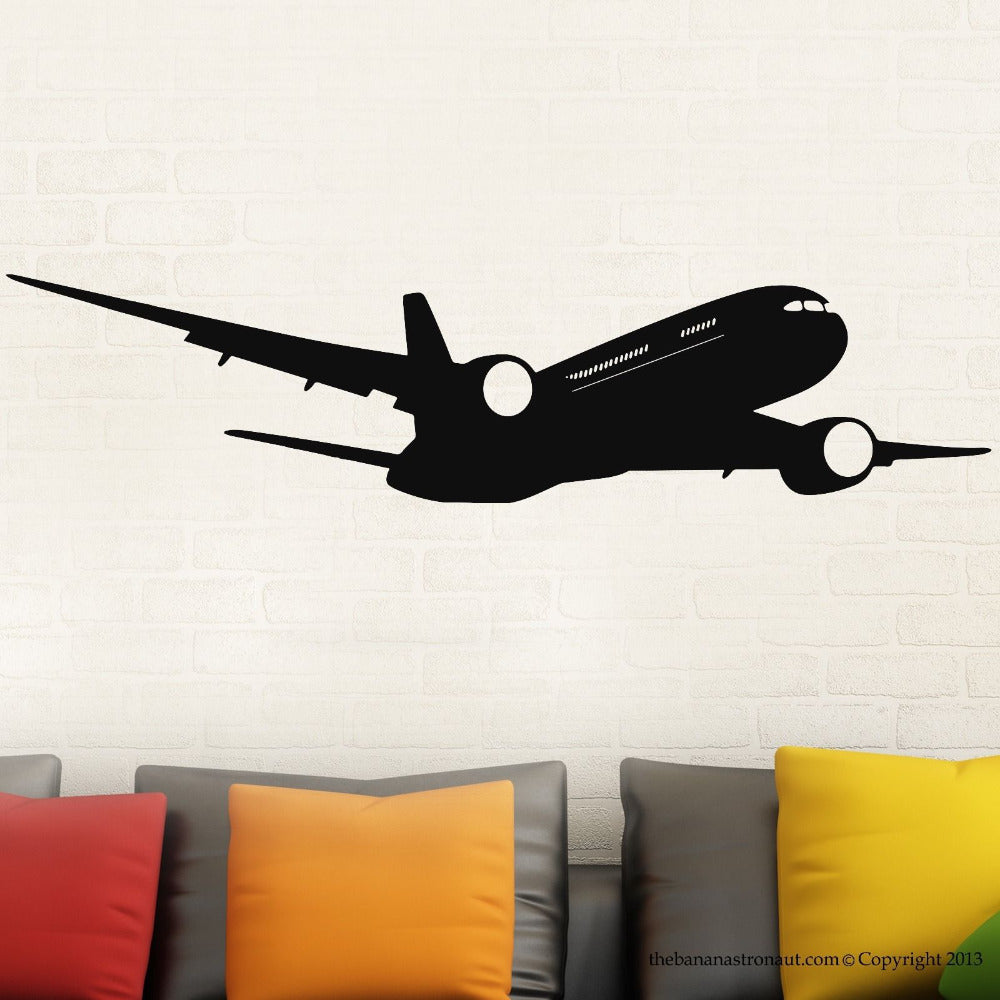 Airplane Boeing Wall Modern Decal Stickers Decor Easy Removable Sticker Mural waterproof