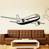 Airplane Cartoon Wall Stickers Aircraft Wall Decals Kids Rooms Removable Vinyl Adhesive Boys