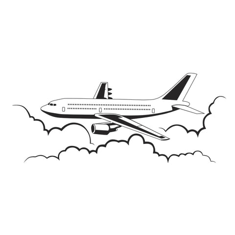 Airplane Vinyl Wall Decals Airliner Aviation Waterproof Wall Stickers Home Decors Kid Bedrooms
