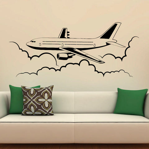 Airplane Vinyl Wall Decals Airliner Aviation Waterproof Wall Stickers Home Decors Kid Bedrooms Living Room Decoration