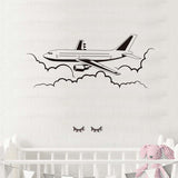 Airplane Vinyl Wall Decals Airliner Aviation Waterproof Wall Stickers Removable Home Decors