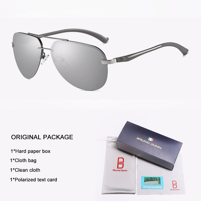 Aluminium Aviator Sunglasses Men Women Polarized UV400 High Quality Rimless