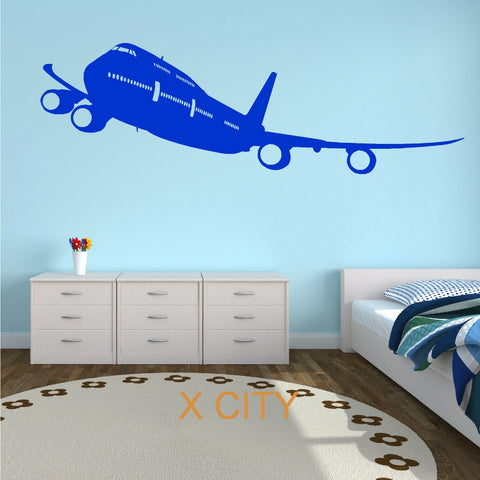 BOEING 747 Plane Aircraft Aeroplane Wall Art Sticker Mural Decal Vinyl