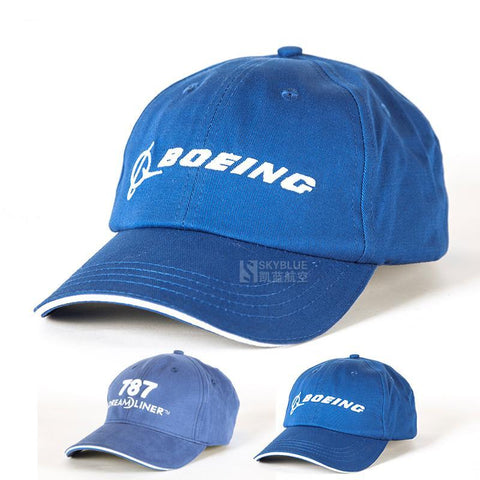 Boeing / 787 Dreamliner Blue Cap Baseball Adjustable