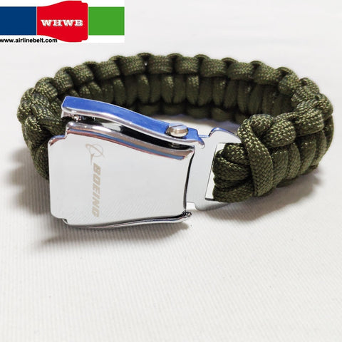 Boeing Airbus Paracord Parachute Cord Lanyard Hiking Camping Hand Bracelet