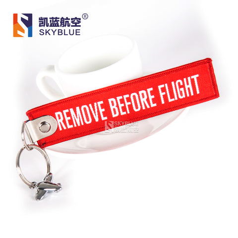 Boeing B737 / B747 / B777 / B787  Travel Accessories Luggage Tag Red Embroider Metal Plane