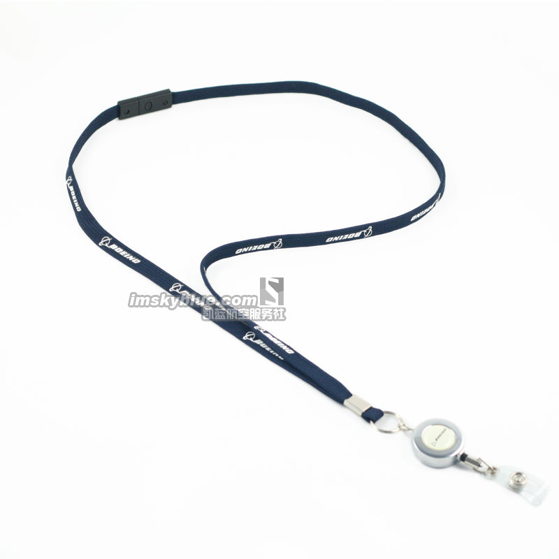 Boeing Lanyard  for Pilot Flight Crew License ID Card Holder Metal Buckle