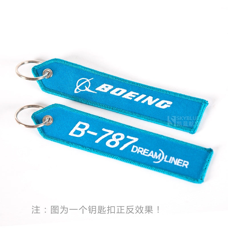 Boeing Logo B-787 Travel Luggage Tag Sky Blue Bag Tag Gift for Flight Crew Pilot Aviation Lover
