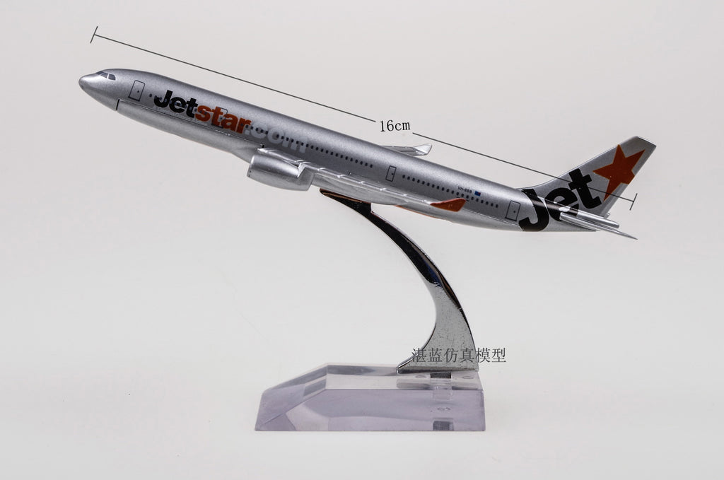 1/400 Scale Jetstar Airways Pty Limited Airbus A330 Airplane 16cm Length Diecast Metal Plane