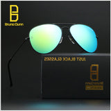 Bruno Dunn Glass lens Aviation Women Sunglasses Men Sun Glasses Female