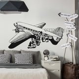 DIY Wall Stickers Wall decor PVC material decals wallpaper mural Airplane