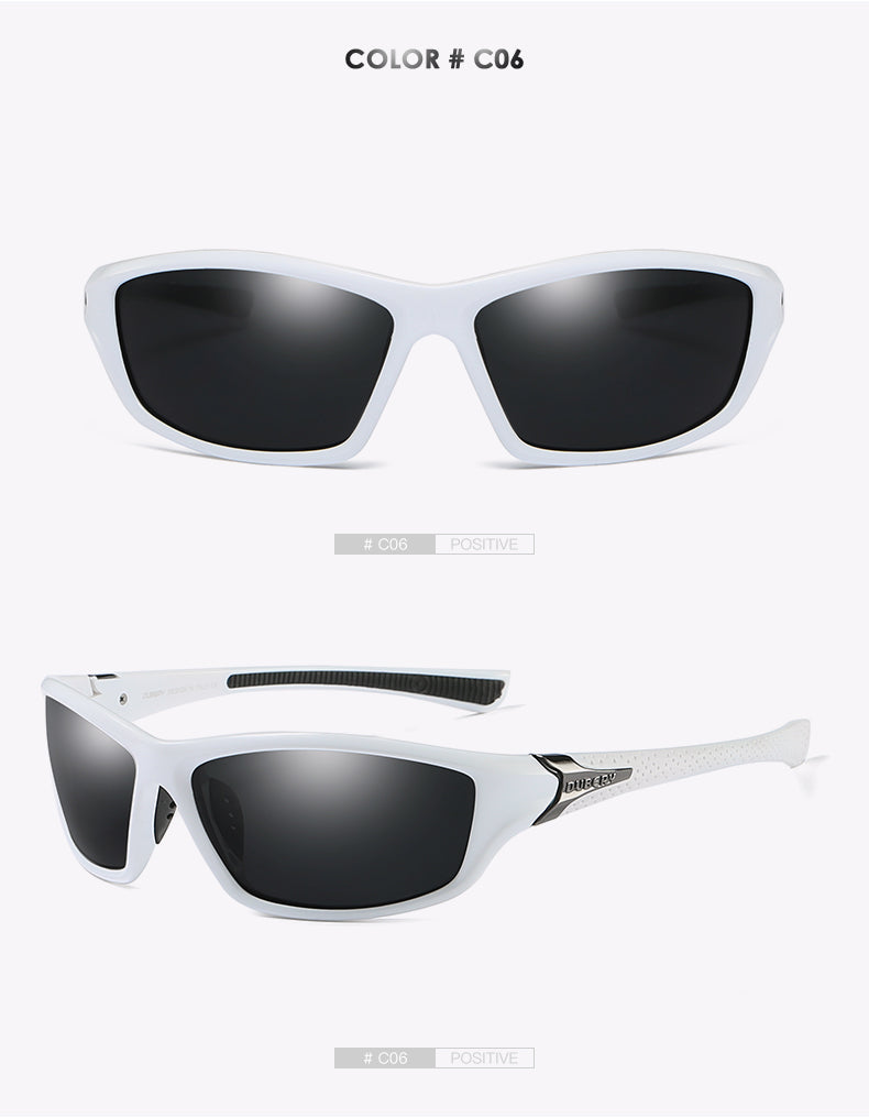 DUBERY Polarized Night Vision Aviator Sunglasses Men's Retro Male Luxury Mirror Goggles
