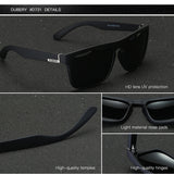 DUBERY Polarized Sunglasses Men's Aviation Shades Male Sun Glasses Retro Luxury Designer