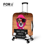 Dog Wolf Luggage Protective Dust Cover Elastic Travel Accessories Suitcase Covers for 18-28inch Trunk Case Stretch Baggage Cover