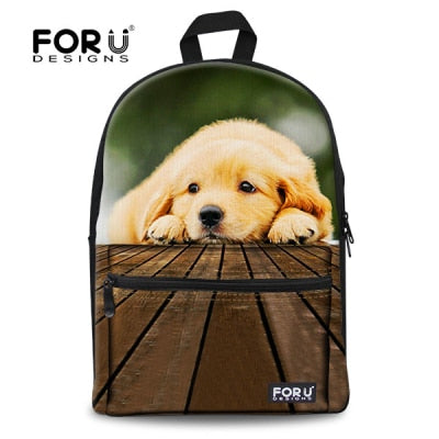 Children School bag Cute 3D Animal Cat Schoolbag for Girls Casual Kids Women