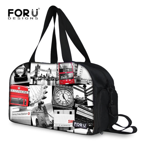 Women Big Travel Bags New British Style Duffel Bags for Women Ladies Large Fashion Print