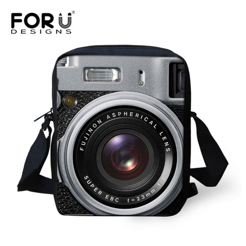 3D Camera Printing Women Messenger Bags Crossbody Shoulder Bag Children Female Casual