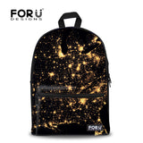 Children Women School Bags Cool Canvas High Student Boys Schoolbag 3D Eye Print Kids
