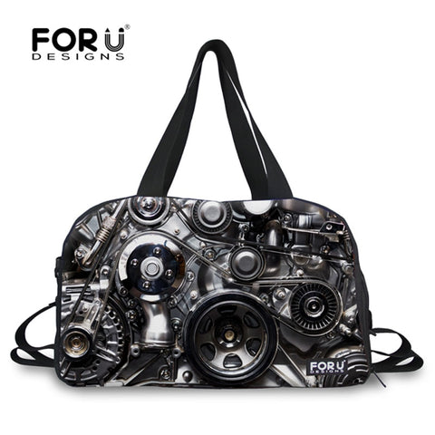 Metal Printed Male Travel Luggage Bag Student Weekender Bags Men Large Business Travel