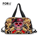 Women Luggage Bag Personality Skull Print Female Large Capacity Duffle Bag Men Weekend Bag