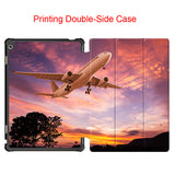 Fashion Flip PU leather Boeing Aircraft Case Magnet Smart cover for Huawei Honor WaterPlay