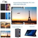 Fashion Flip PU leather Boeing Aircraft Case Magnet Smart cover for Huawei Honor WaterPlay 10.1 HDN-W09 HDN-L09 2017 tablet case